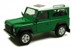 Land Rover Defender 90 green Cararama 1:43