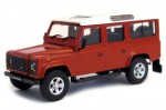 Land Rover Defender 110 dark red Cararama 1:43