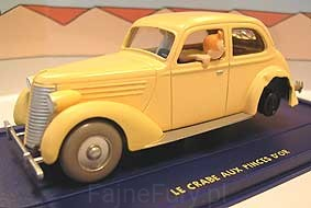 Tintin La voiture accidente Atlas 1:43