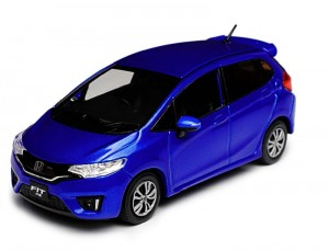 Honda Fit (Jazz) RS brilliant sporty blue Kyosho 1:43