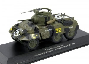 Ford M8 Armored Car Avranches France 1944 Eaglemoss 1:43