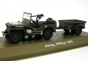 Jeep Willys MB with trailer US Army 1:43