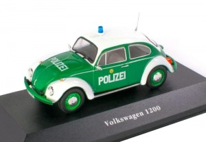 Volkswagen Kafer 1200 Polizei Germany 1977 Atlas 1:43