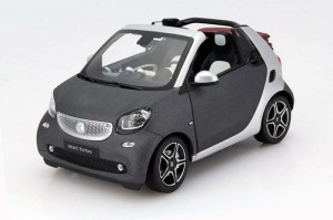 Smart Fortwo Cabrio yellow 2014 Norev 1:18