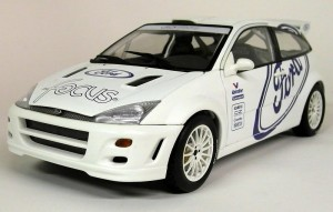 Ford Focus WRC Test Car 1999 white Autoart 1:18