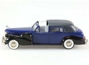 Cadillac V16 Coupe de Ville 1938-1940 black/blue Rextoys 1:43