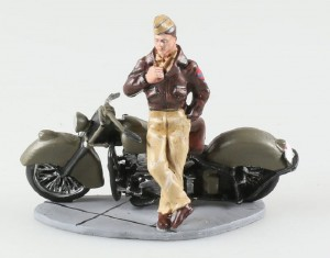 Pilot US Airforce Indian Chief 1945 Triciclo Miniatures 1:32