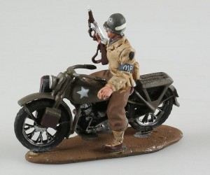 US Army Military Police Harley Davidson WLA 1944 Triciclo Miniatures 1:32