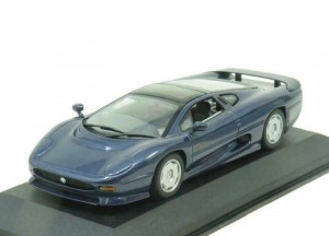 Jaguar XJ220 1992 blue metallic Minichamps 1:43