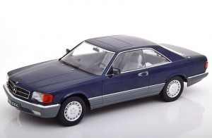 Mercedes-Benz 500 SEC C126 1980 blue KK-Scale 1:18