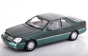 Mercedes-Benz 600 SEC C1140 1992 green KK-Scale 1:18
