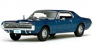 Mercury Cougar 1967 blue Vitesse 1:43