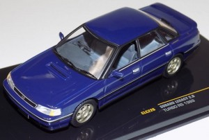 Subaru Legacy 2.0 Turbo RS 1989 blue IXO 1:43