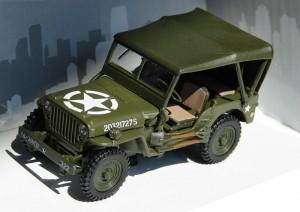 Jeep Willys US Army Cararama 1:43