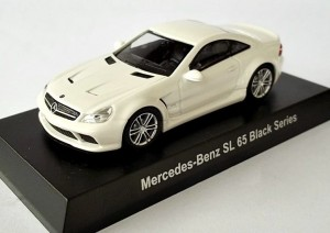 Mercedes-Benz SL 65 Black Series white Kyosho 1:64