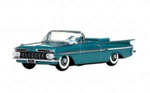 Chevrolet Impala Open Convertible 1959 Crown Sapphire Vitesse 1:43
