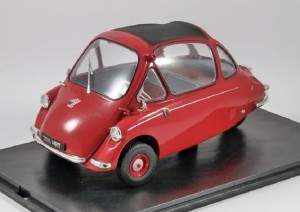 Heinkel Kabine LHD Spartan red Oxford 1:18