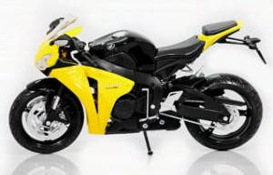 Honda CBR 1000RR black/yellow Automaxx 1:12
