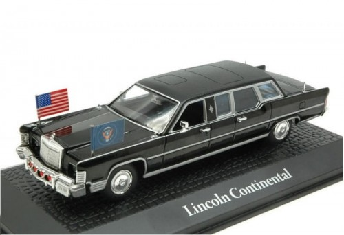 Atlas metalowy model samochodu Lincoln Continental Ronald Reagan 1981.jpg
