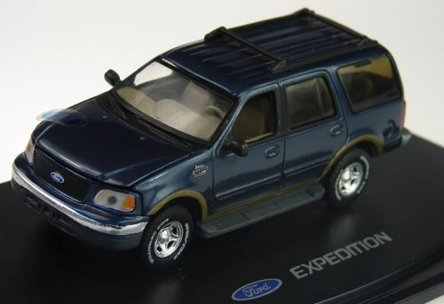 ANSON metalowy model samochodu Ford Expedition blue.jpg